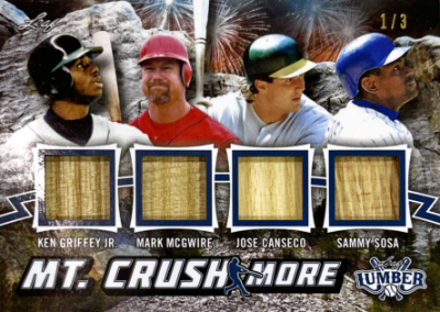 Mt. Crushmore Relics Navy Blue Ken Griffey Jr, Mark McGwite, Jose Canseco, Sammy Sosa
