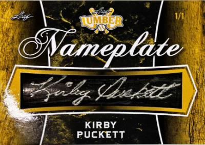 Nameplate Relics Kirby Puckett
