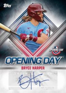 Opening Day Auto Bryce Harper MOCK UP