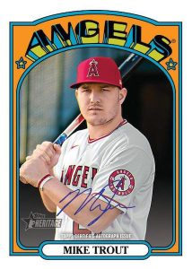 Oversized 1972 Topps Auto Box Toppers Mike Trout MOCK UP
