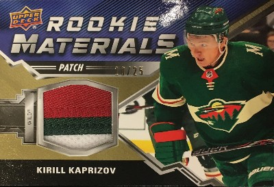 Rookie Materials Patch Kirill Kaprizov