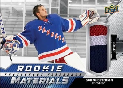 Rookie Photoshoot Flashback Materials Igor Shesterkin MOCK UP