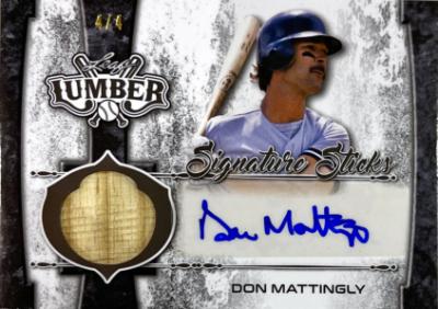 Signature Stick Auto Pewter Don Mattingly