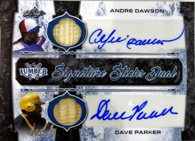 Signature Sticks 2 Auto Navy Blue Andre Dawson, Dave Parker