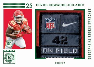 Substantial Rookie Swatches Emerald Clyde Edwards-Helaire MOCK UP