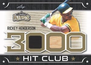 The 3000 Hit Club Relics Rickey Henderson MOCK UP