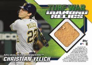 Turf War Dual Diamond Relics Back Christian Yelich MOCK UP
