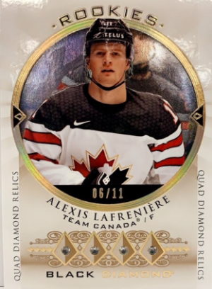 2015-16 Diamond Relic Rookie Gems Tribute Alexis Lafreniere