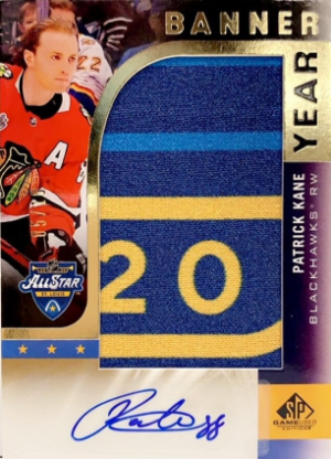 2020 NHL All-Star Game Banner Year Jumbo Relic Auto Patrick Kane