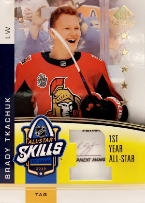 2020 NHL All-Star Skills Fabric 1st Year Brady Tkachuk