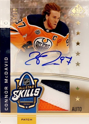2020 NHL All-Star Skills Fabrics Auto Patch Connor McDavid