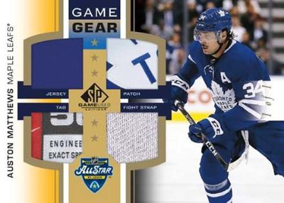 2020 NHL All-Star Skills Game Gear Gold Auston Matthews MOCK UP
