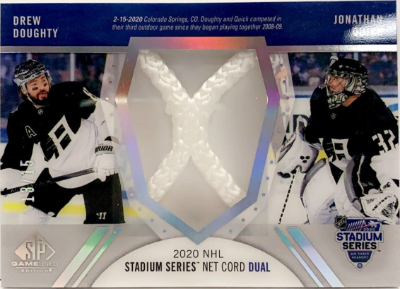 2020 NHL Stadium Series Materials Net Cord Duals Drew Doughty, Jonathan Quick