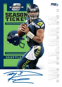 2012 Contenders Tribute Autographs Russell Wilson MOCK UP