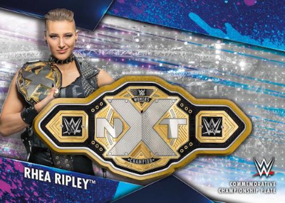 Championship Plate Patch Rhea Ripley MOCK UP