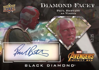 Diamond Facet Auto Paul Bettany as Vision MOCK UP