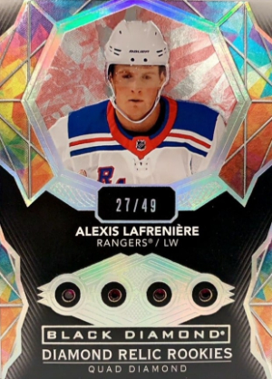 Diamond Relic Rookie Gems Quad Diamond Alexis Lafreniere