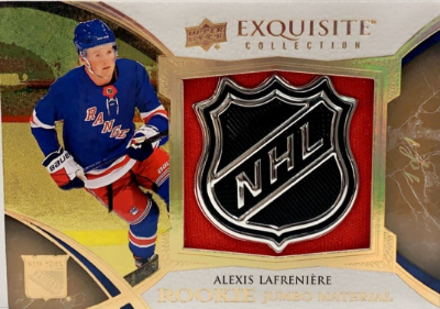 Exquisite Collection Rookie Jumbo Patch Shield Alexis Lafreniere