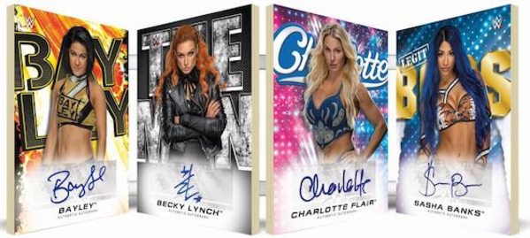 Four Horsewomen of WWE Auto Book Bayley, Becky Lynch, Charlotte Flair, Sasha Banks MOCK UP