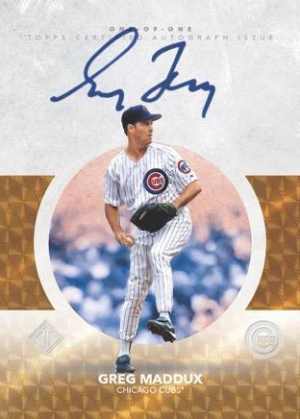 Hall of Fame Icons Auto Greg Maddux MOCK UP