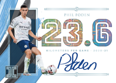 Impeccable Stats Auto Phil Foden MOCK UP