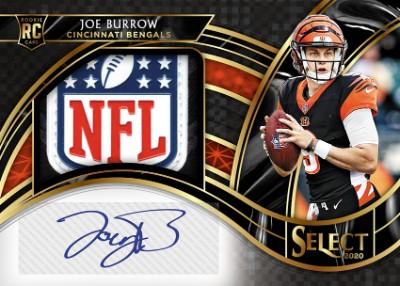 Jumbo Rookie Signatures Swatch Black Prizm NFL Shield Joe Burrow MOCK UP