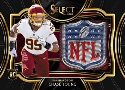 Jumbo Rookie Swatch Prizm NFL Shield Chase Young MOCK UP