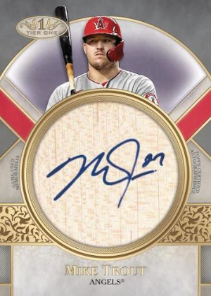 Perfect Contact Auto Bat Relic Mike Trout MOCK UP
