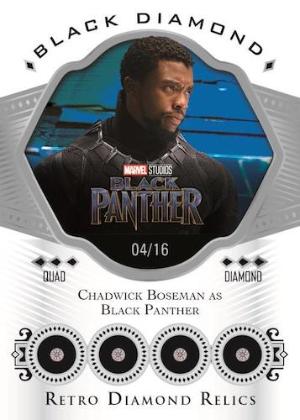 Retro Diamond Relics Chadwick Boseman as Black Panther MOCK UP