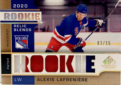 Rookie Relic Blends Alexis Lafreniere