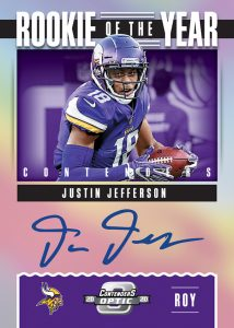 Rookie of the Year Contenders Auto Justin Jefferson MOCK UP
