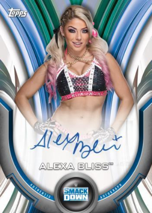 Roster Auto Blue Alexa Bliss MOCK UP