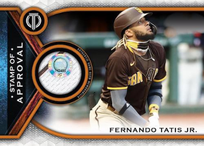 Stamp of Approval Relics Fernando Tatis Jr MOCK UP