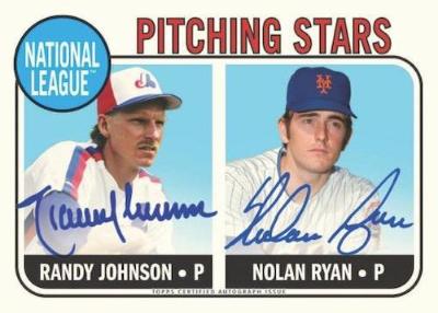 Through the Years Dual Auto Randy Johnson, Nolan Ryan MOCK UP