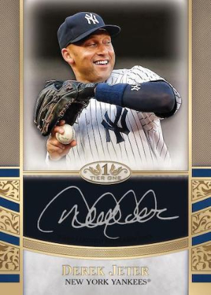 Tier One Auto Card Silver Ink Derek Jeter MOCK UP