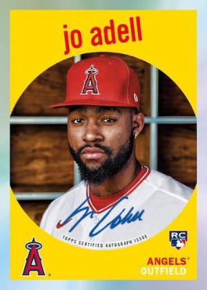 Tribute to Topps Auto Jo Adell MOCK UP