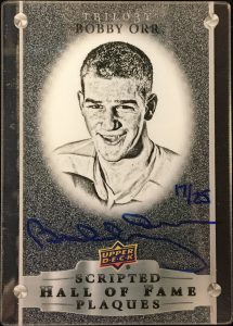 Scripted Hall of Fame Plaques Bobby Orr