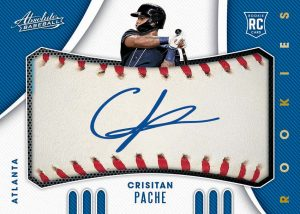 Rookie Baseball Material Signatures Cristian Pache MOCK UP