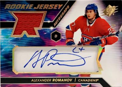 Rookie Jersey Auto Gold Spectrum Alexander Romanov