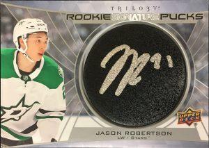 Rookie Signature Pucks Jason Robertson