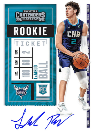 Rookie Ticket Auto LaMelo Ball MOCK UP