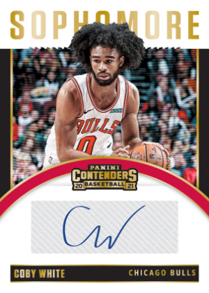 Sophomore Contenders Auto Coby White MOCK UP