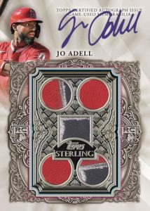 Sterling Debuts Auto Relic Jo Adell MOCK UP