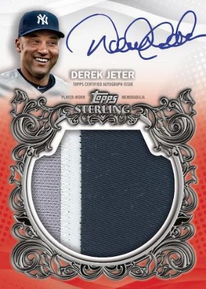 Sterling Splendor Jumbo Auto Patch Derek Jeter MOCK UP