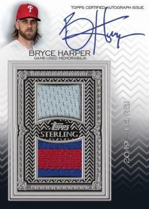 Sterling Swings Auto Relics Bryce Harper MOCK UP