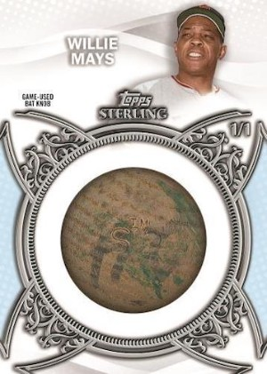 Topps Sterling Bat Knobs Willie Mays MOCK UP