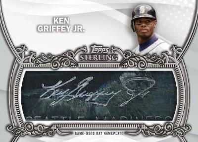 Topps Sterling Bat Nameplates Ken Griffey Jr MOCK UP