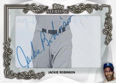 Topps Sterling Cut Signatures Jackie Robinson MOCK UP