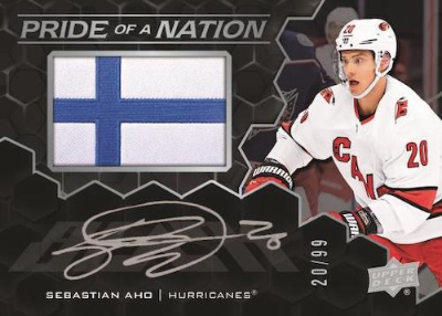 UD Black Pride of a Nation Auto Manufactured Patch Sebastian Aho MOCK UP
