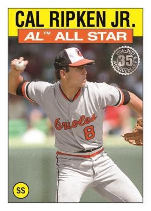 1986 Topps All-Star Baseball 35th Anniversary Cal Ripken Jr MOCK UP